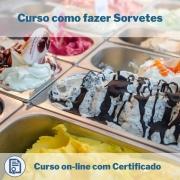 Curso Online em videoaula de como fazer Sorvetes com Certificado