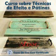 Curso online em videoaula de como fazer Técnicas de Efeito e Pátinas com Certificado