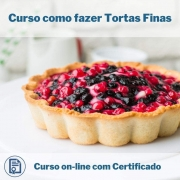 Curso Online em videoaula de como fazer Tortas Finas com Certificado