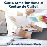 Curso online em videoaula de como funciona a Gestão de Custos com Certificado