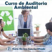 Curso online em videoaula sobre Auditoria Ambiental com Certificado