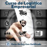 Curso online em videoaula de como funciona Logística Empresarial com Certificado