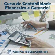 Curso online em videoaula de Contabilidade Financeira e Gerencial com Certificado