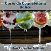 Curso online em videoaula de Coquetelaria Básica com Certificado
