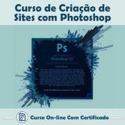 Curso online em videoaula de Criação de Sites com Photoshop CC com Certificado
