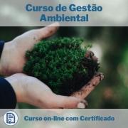 Curso Online em videoaula de Gestão Ambiental com Certificado