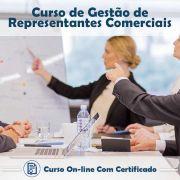 Curso online em Videoaula de Gestão de Representantes Comerciais com Certificado