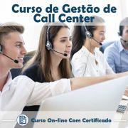 Curso online em videoaula de Gestão em Call Center com Certificado