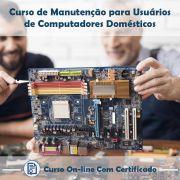Curso Online em videoaula de Manutenção para Usuários de Computadores Domésticos com Certificado