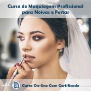Curso online em videoaula de Maquiagem Profissional para Noivas e Festas com Certificado