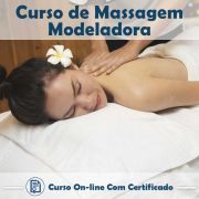 Curso online em videoaula de Massagem Modeladora com Certificado