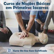 Curso Online em videoaula de Noções Básicas em Primeiros Socorros com Certificado