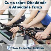 Curso online em videoaula de Obesidade e Atividade Física com Certificado
