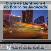 Curso Online em videoaula do básico ao avançado de Lightroom 4  com Certificado