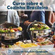 Curso online em videoaula sobre a Cozinha Brasileira com Certificado