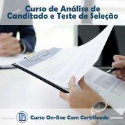 Curso online em videoaula sobre Análise de Candidato e Teste de Seleção na Prática com Certificado