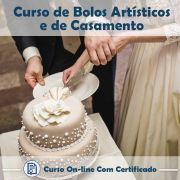 Curso online em videoaula sobre Bolos Artísticos e de Casamento com Certificado