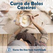 Curso online em videoaula sobre Bolos Caseiros com Certificado