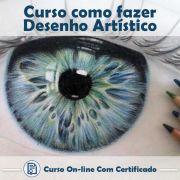 Curso online em videoaula de como fazer Desenho artístico com Certificado