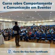 Curso online em videoaula sobre Comportamento e Comunicação em Eventos com Certificado
