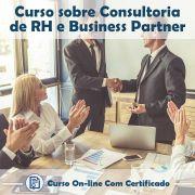 Curso online em videoaula sobre Consultoria de RH e Business Partner com Certificado