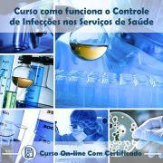 Curso online em videoaula sobre Controle de Infecções nos Serviços de Saúde com Certificado