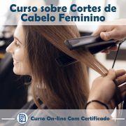 Curso online em videoaula sobre Cortes de Cabelo Feminino com Certificado
