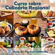 Curso online em videoaula sobre Culinária Regional com Certificado