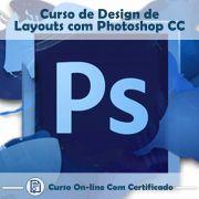 Curso online em videoaula sobre Design de Layouts com Photoshop CC com Certificado
