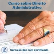Curso Online em videoaula sobre Direito Administrativo com Certificado