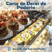 Curso online em videoaula sobre Doces de Padaria com Certificado