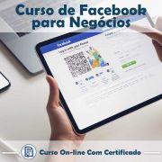 Curso online em videoaula sobre Facebook para Negócios com Certificado