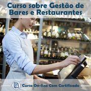 Curso online em videoaula sobre Gestão de Bares e Restaurantes com Certificado