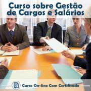 Curso online em videoaula sobre Gestão de Cargos e Salários com Certificado