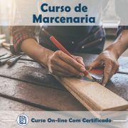 Curso online em videoaula sobre Marcenaria com Certificado