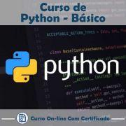 Curso online em videoaula sobre Python Básico com Certificado