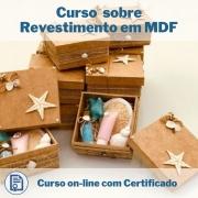 Curso Online em videoaula sobre Revestimento em MDF com Certificado
