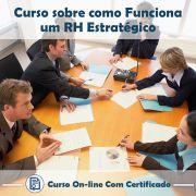 Curso online em videoaula sobre RH Estratégico com Certificado