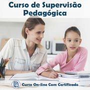 Curso online em videoaula sobre Supervisão Pedagógica com Certificado