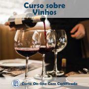 Curso online em videoaula  sobre Vinhos com Certificado