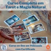 Curso on-line em videoaula Completo em Tarot e Magia Natural com Certificado