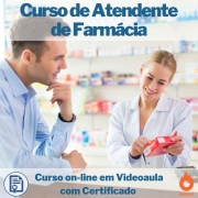 Curso on-line em videoaula de Atendente de Farmácia com Certificado