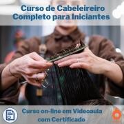 Curso on-line em videoaula de Cabeleireiro Completo para Iniciantes com Certificado