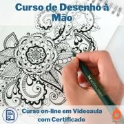 Curso on-line em videoaula de Desenho à Mão com Certificado