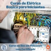 Curso on-line em videoaula de Elétrica Básica para Iniciantes com Certificado