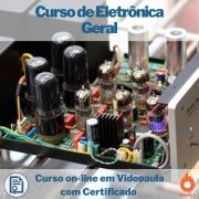 Curso on-line em videoaula de Eletrônica Geral com Certificado