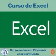 Curso on-line em videoaula de Excel com Certificado