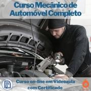 Curso on-line em videoaula de Mecânico de Automóvel Completo com Certificado