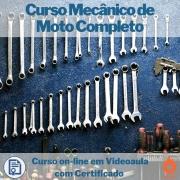 Curso on-line em videoaula de Mecânico de Moto Completo com Certificado