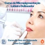 Curso on-line em videoaula de Micropigmentação Labial e Delineador com Certificado